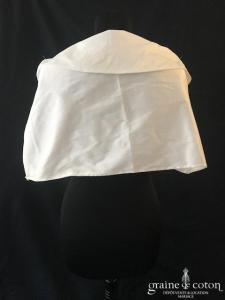 Étole tube en taffetas ivoire clair