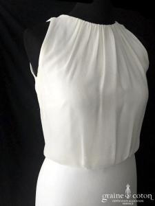 Atelier Pronovias - Veneto (bretelles mousseline de soie fluide dos boutonné taille-haute fourreau sirène)