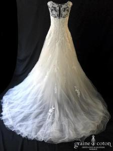 Pronovias - Pleadia (bretelles coeur tulle fluide dentelle princesse taille-haute)