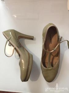 Repetto - Salomés (chaussures) nude foncé vernis