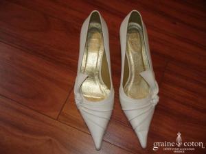 Jumelles - Escarpins (chaussures) en cuir ivoire