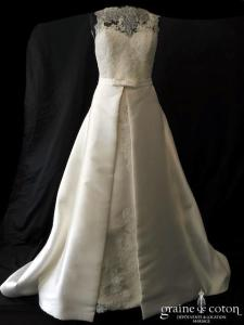 Pronovias - Aitziber (mikado sirène dentelle bretelles dos boutonné coeur poches princesse)
