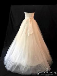 Cymbeline - Bahia (bustier drapé taffetas tulle fluide manches dentelle bretelles taille-haute princesse A-line)