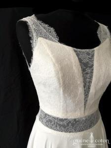 Création Helen Dolly - Fée (fluide dentelle bohème mousseline bretelles dos-nu dos boutonné taille-haute)