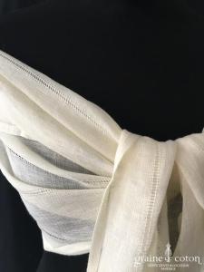 Jean Jacques Rogers - Étole longue en lin ivoire