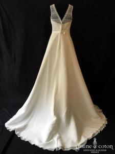 Bianco Evento - Riviera (bretelles mousseline dentelle guipure bohème fluide taille-haute princesse A-line dos-nu)