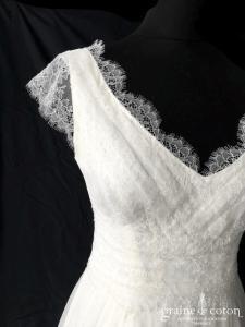 Marie Laporte - Claire / Leonie (mousseline de soie dentelle fluide manches bretelles dos boutonné  dos-nu dos-V bohème)