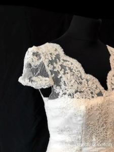 Créations Bochet - Orphée (bohème fluide tulle dentelle manches bretelles dos-nu taille-haute)