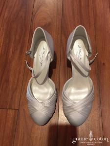 Instant précieux - Escarpins Lily (chaussures satin blanc)