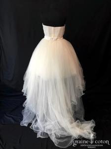 Les mariées de Talia - Cardamine (courte longue tulle coeur bustier drapé bustier taille-haute)