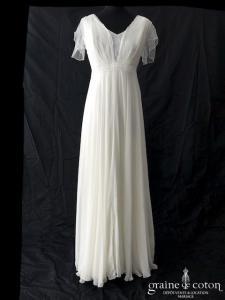 Rembo Styling - Féminine (mousseline bretelles manches fluide taille-haute bohème dentelle decollete-V dos-nu)