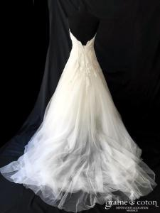 La Sposa pour Pronovias - Piera (princesse bustier coeur dentelle tulle taille-haute taille-basse)