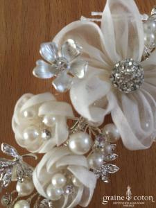Bianco Evento - Peigne / coiffe fleurs perles et strass (4189)