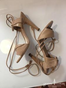 Hermès - Sandales (chaussures) en nubuck et cuir nude