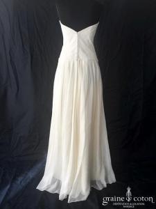 Rembo Styling - Nadia (bustier droit soie dentelle dos-boutonné taille-basse fluide bohème mousseline de soie manches bretelles)