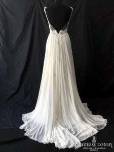 Modeca - Demetria (fluide mousseline dentelle bretelles bohème taille-haute dos-nu décolleté-V coeur)