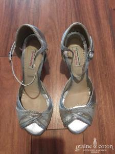 Raquel Shoes - Greta (chaussures escarpins sandales argentées)