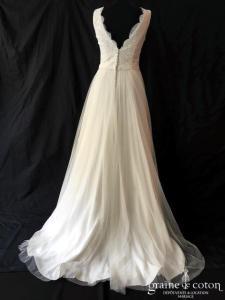 Marylise - Romance (bretelles fluide bohème dentelle tulle decolleté-V dos-nu taille-haute)