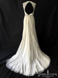 David's Bridal - Style VW9768 (sirène fourreau fluide dentelle bretelles dos-nu droite bohème)