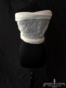 Création - Étole / cape en laine ivoire