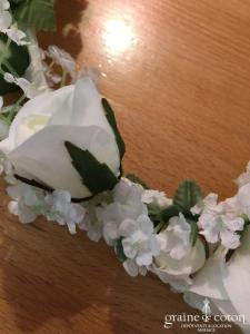 Création - Couronne de fleurs blanches
