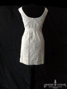 Paul & Joe Sister - Robe courte en dentelle ivoire (taille-haute droite bretelles)