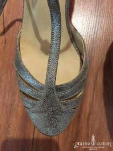 Jonak - Salomés (chaussures) paillettées cuivré