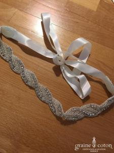 Création - Headband ou ceinture perles et strass