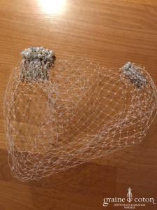 Création - Voilette en tulle et attaches peigne en perles