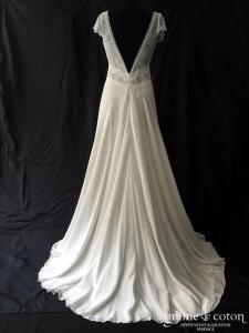Elsa Gary - Beryl (bohème fluide bretelles taille-haute mousseline soie dentelle manches dos-nu)