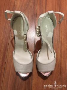 Menbur - Sandales (chaussures) ivoire nacré