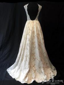 Atelier Anonyme - Sacha (taille-haute bretelles dentelle princesse guipure coton dos-nu nude champagne bohème)