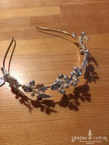 Création - Headband serre tête en strass et perles