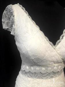 Elsa Gary - Zenia (bohème fluide mousselone de soir dentelle bretelles manches dos-nu taille-haute)