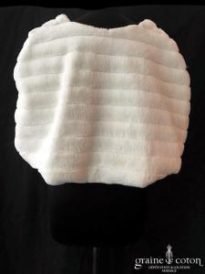 Bianco Evento - Étole / cape en fausse fourrure ivoire (E139)