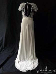 Laure de Sagazan - Beauregard (fluide bohème dentelle crêpe de soie dos-nu manches bretelles taille-haute dos boutonné)