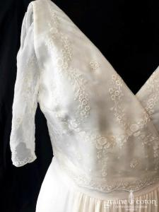 Laure de Sagazan - Verne (courte mi longue organza crêpe de soie dentelle portefeuille droite fluide bohème manches bretelles dos-nu)