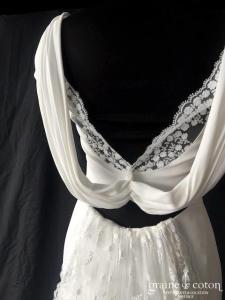 Rime Arodaky - Suki (sirène bohème guipure dentelle crêpe de soie tulle dos-nu bohème manches bretelles taille-haute fuide)