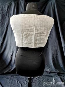 Création - Écharpe en soie et guipure ivoire (châle étole vintage dentelle)
