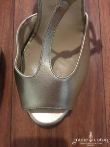 San Marina - Sandales façon salomés (chaussures) dorées