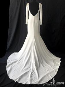 Atelier Pronovias - Ivania (manches crêpe Isabelle soie dos-nu fourreau sirène)