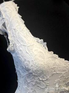 Olvis - Modèle sirène en dentelle (bretelles manches dos-nu bohème décolleté-V enceinte)