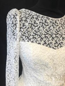 Laure de Sagazan - Valma (bohème mousseline de soie dentelle guipure manches bretelles dos-nu taille-basse fluide)