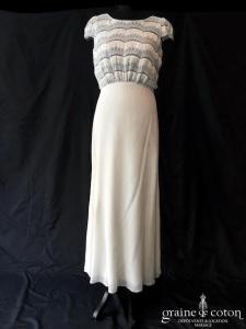 Laure de Sagazan - Verlaine (courte mi longue crêpe de soie dentelle guipure bretelles manches dos-nu taille-haute fluide bohème)
