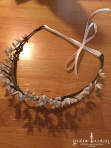 Lizeron - Hermine couronne de fleurs ivoires (cheveux coiffe)