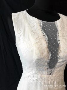 Marie Laporte - Honolulu (bohème fluide tulle plumetis dos-nu dentelle bretelles taille-haute)