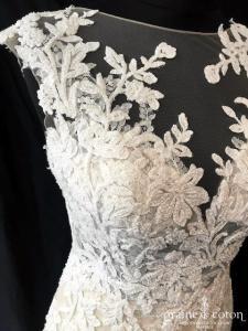 La mariée parisienne - Laëtitia (sirène nude dentelle coeur guipure bretelles bohème dos-nu)