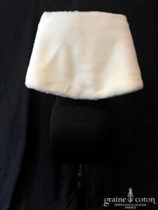 Cymbeline - Cape en fausse fourrure ivoire