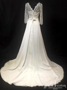 Mariane Carême - Top Isabella et jupe Prisca (fluide crêpe de soie dentelle bohème taille-haute bretelles manches)