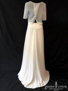 Marie Laporte - Fanny (bohème fluide guipure manches bretelles coeur jupe top taille-haute taille-basse dos-nu)